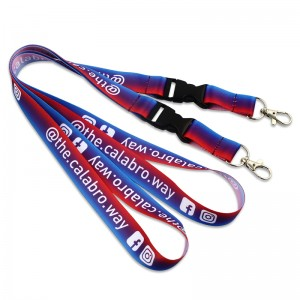Professional China Printed Polyester Customized Lanyard  Sublimation printed custom lanyards