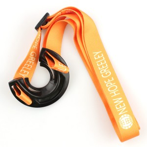 Cheap fashional printing polyester lanyard with water bottle holder
