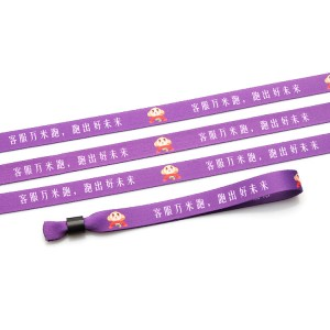 Promotional Event One Time Use Fabric Party ID Wristband With Buckle