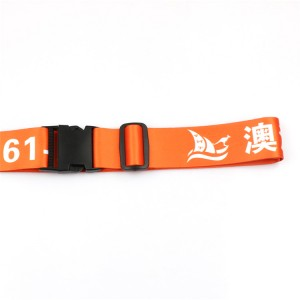 Wholesale high quality sublimation polyester luggage strap&belt