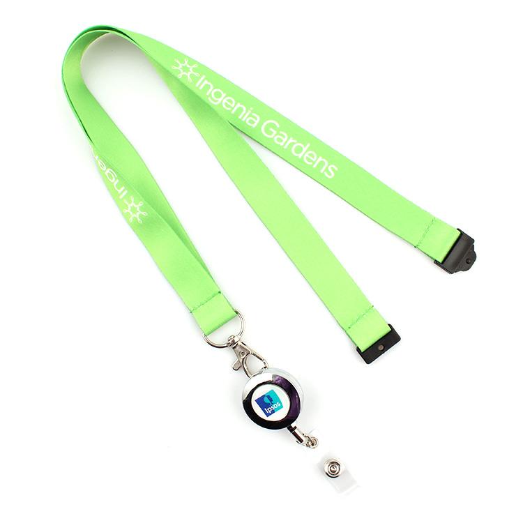 Factory made hot-sale Reflective Pet Leash - Promotional yoyo id card holder lanyard ,yoyo card holder with lanyard – February Webbing