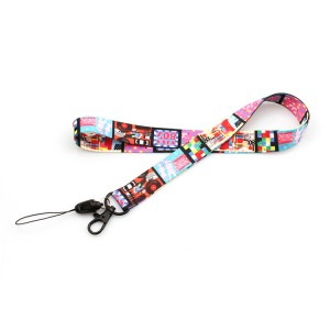 New products polyester material custom printed cartoon lanyard for student