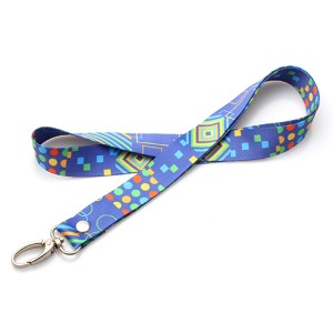 Free Sample Promotional Cheap Custom Printed Polyester Neck Lanyard With Logo