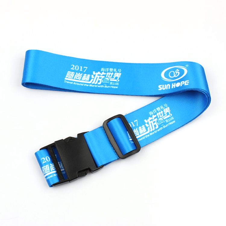 High quality adjustable custom Luggage strap suitcase polyester Belt Featured Image