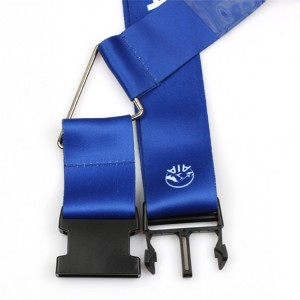 Travel luggage strap promotion gift for office with plastic adjustable buckle