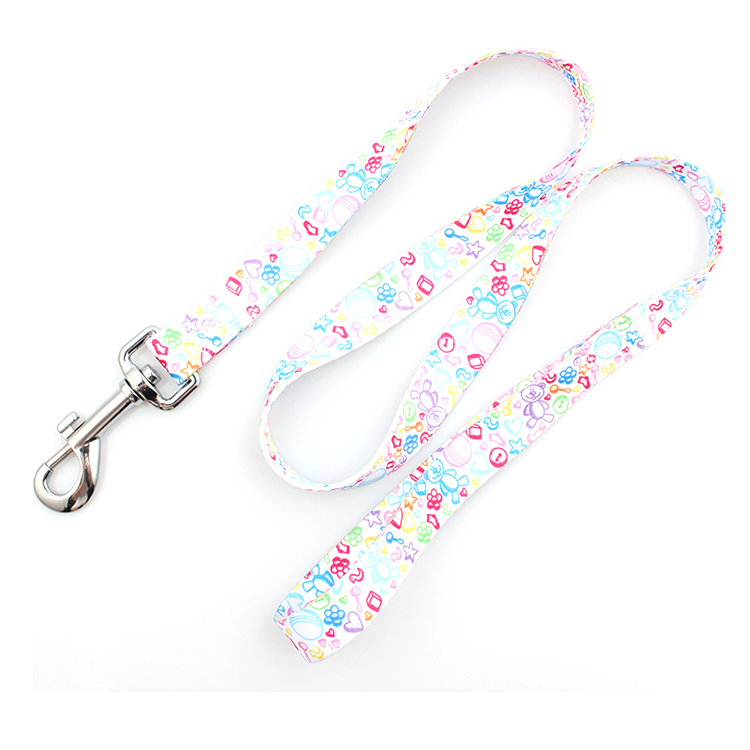 2017 New Style Rose Gold Dog Collar - Polyester material heat transfer print dog leash  no minimum order – February Webbing