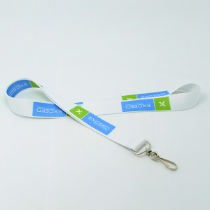 Wholesale ribbon satin lanyard for business card