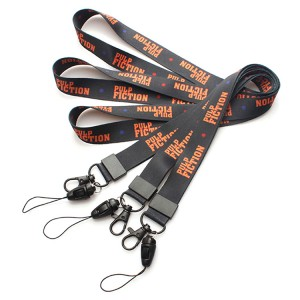 Custom printed polyester neck lanyard for smart phone case