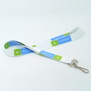 Custom your logo heat transfer lanyard with J-hook for ID card