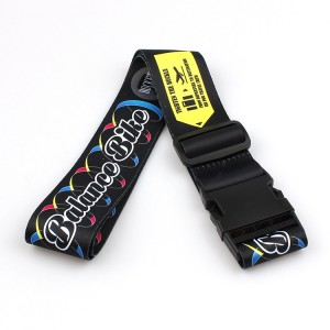 Cheapest Price Card Holder Lanyard - Luggage Strap With Plastic disconnect Buckle For Suitcase Travel Belt – February Webbing