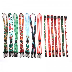 Factory eco friendly buckle beaded kids adult women Christmas lanyard for facemask