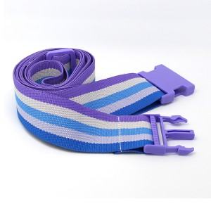 Short Lead Time for Lanyard Free Sample - Custom adjustable travel luggage suitcase strap with plastic buckle – February Webbing