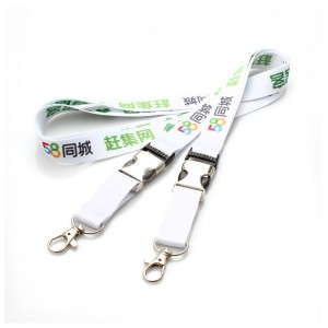 High end good quality durable print logo car key lanyards with release buckle