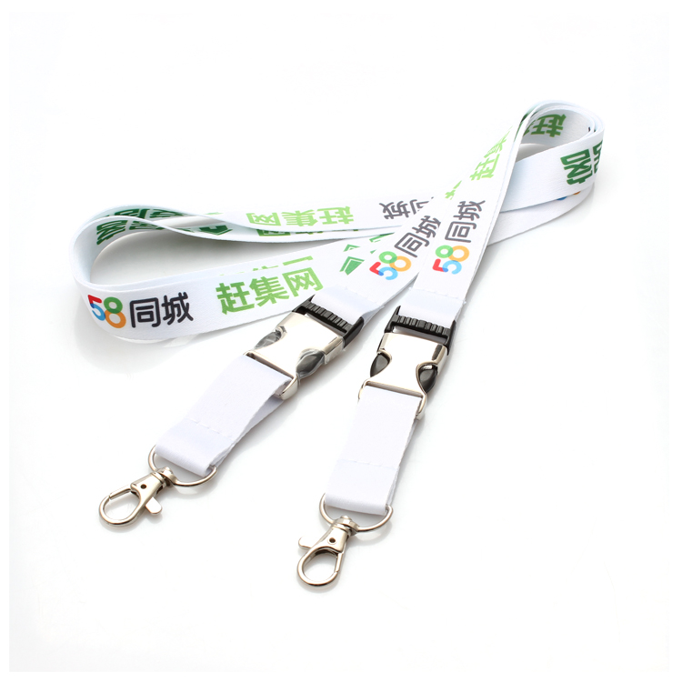 Europe style for Tsa Luggage Strap - High end good quality durable print logo car key lanyards with release buckle – February Webbing Featured Image