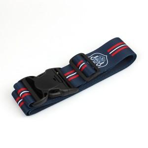 Eco Friendly Polyester Custom Logo luggage Belt with breakaway buckle