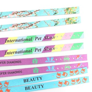 2019 New RPET recycled material print fashion wristband custom logo