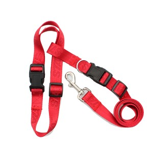 Multifunctional hands free jogging walking running jacquard dog leash
