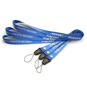 Supply ODM China Blue Dye Sublimated Polyester Neck Lanyard for Promotion Gift