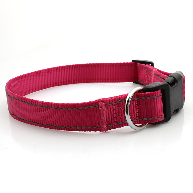 China OEM Lanyard With Clip - Dog collar reflective with breakaway buckle in stock – February Webbing