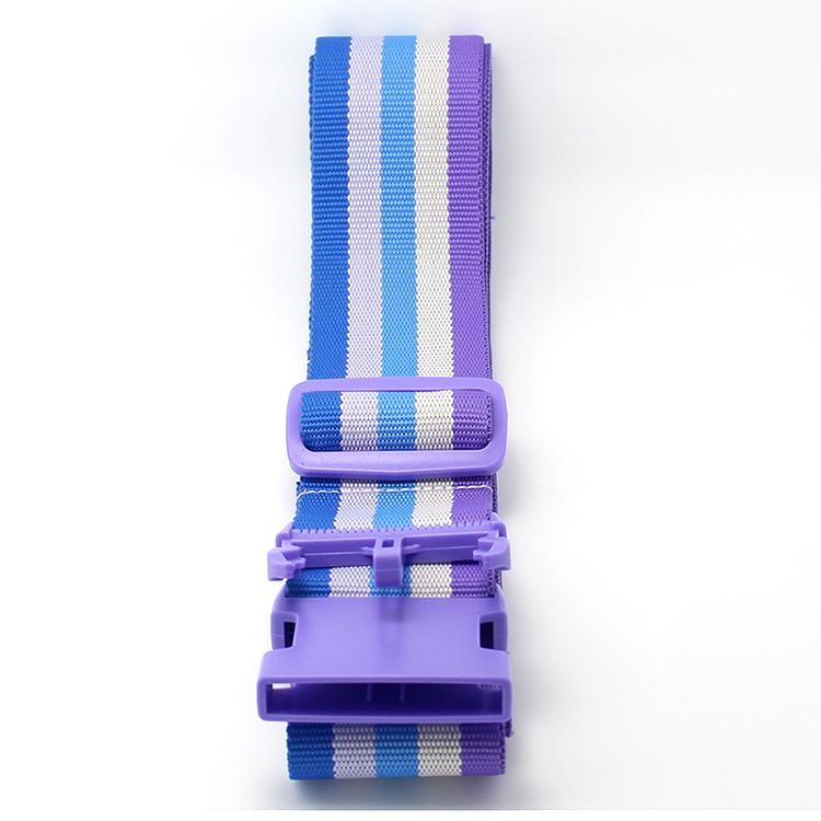 New Arrival China Custom Yoyo Lanyard - Custom adjustable travel luggage suitcase strap with plastic buckle – February Webbing