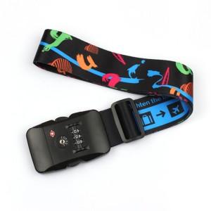 OEM manufacturer Nylon Dog Leash - Wholesale promotional durable custom made polyester weight luggage belt with TSA lock – February Webbing