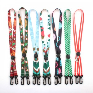 Hot Sale Custom Logo Durable Polyester Beaded Kids Adult Christmas Face Maskes Lanyard