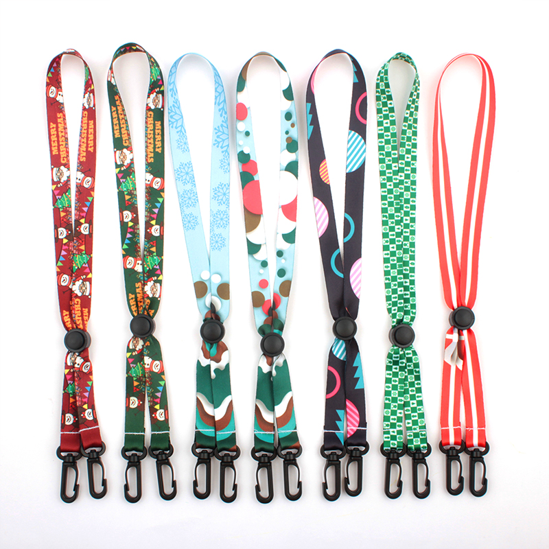 Hot Sale Custom Logo Durable Polyester Beaded Kids Adult Christmas Face Maskes Lanyard Featured Image