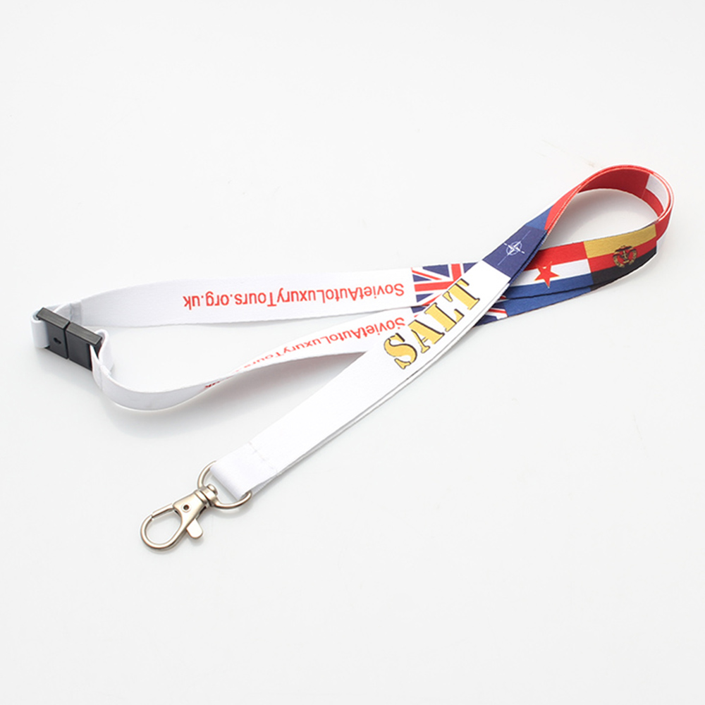 China OEM Wholesale Pet Harness - Custom world cup lanyard with satin material for wallet – February Webbing