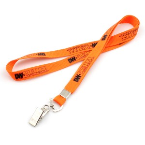 Cell phone neck strap lanyard with bull dog clip
