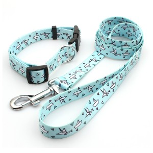 High Quality Bamboo Pet Leash And Collar Set With Breakaway Buckle