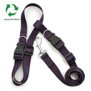 Manufacture custom RPET recycle hands free running dog leash