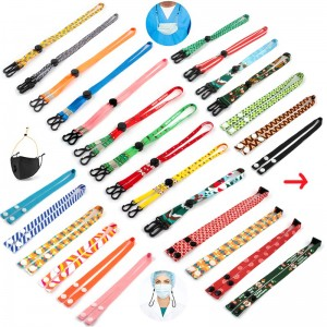 Herschel minimum order High quality Custom maskes holder cartoon lanyard straps kids face maskes lanyard chain branded