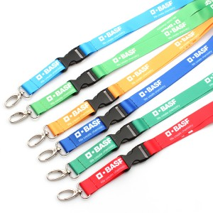 Wholesale personalized polyester sublimation lanyard with logo custom