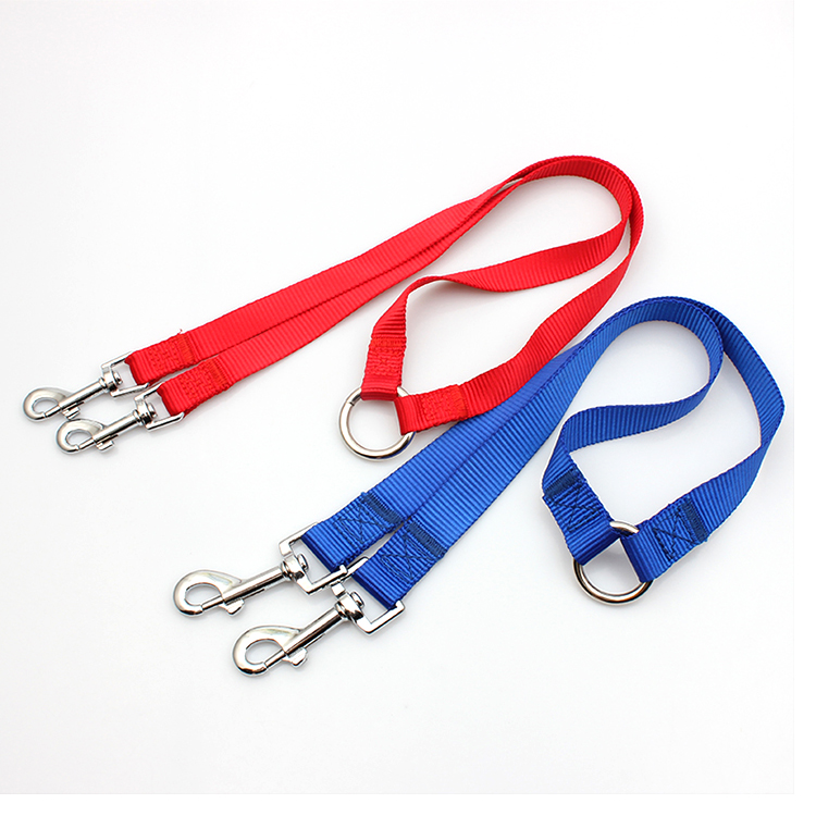 PriceList for High Quality Dog Harness - Factory wholesale cheap polyester printed walking dual dog leash – February Webbing
