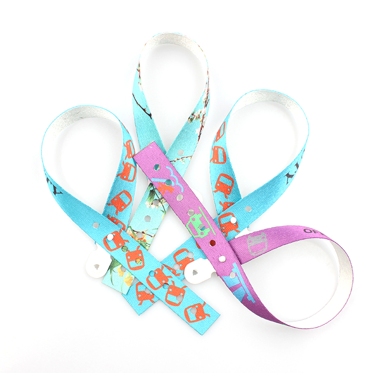 Newly Arrival Bottle Opener Lanyard - 2019 Newest RPET Recyclable Material Adjustable Punch Wristband With Custom Logo – February Webbing