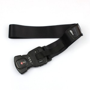 Newest item custom personalized TSA luggage strap belt for business trip