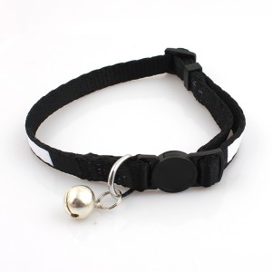 High quality polyester quick release safety breakaway cat collar with small bell