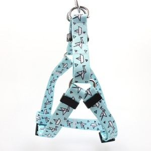 Wholesale hot sale products custom adjustable soft polyester pet dog harness
