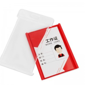 RTS Factory outlet High-quality school plastic transparent ID Card Holder(three-piece)