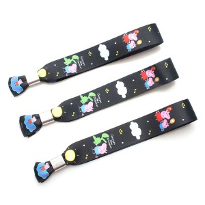 Custom fashion colorful printed elastic fabric wristband