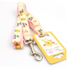 Manufacturer supply fancy cute dog webbing pet leashes stocked