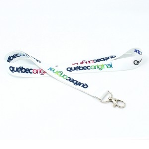 Discountable price Round Led Flashing Lanyard With Custom Epoxy Sticker Logo