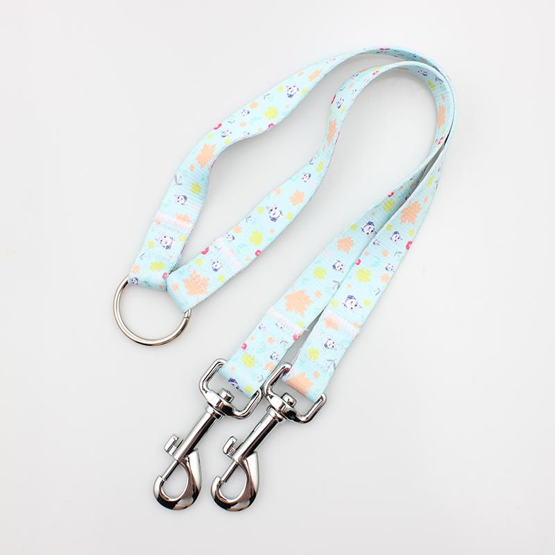 China Supplier Custom Luggage Strap - Fashion heat transfer custom design dog couple dog leash – February Webbing