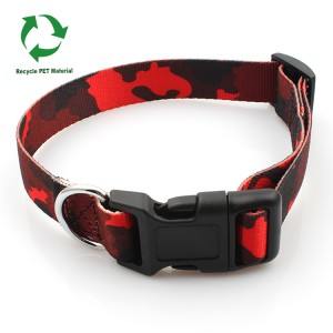 Environmental protection recycle RPETmaterial sublimation dog collar