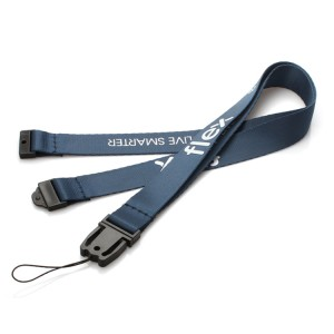 Promotional durable 100% polyester id lanyard for company staff