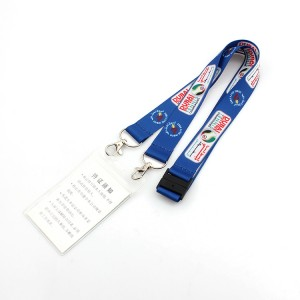 OEM design your own lanyard id card holder with double bulldog clips no minimum order