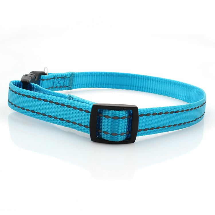 China Factory for Tsa Luggage Belt - Custom Webbing Dog Collar Reflective With Plastic buckle Wholesale – February Webbing