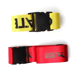 Factory direct sale cheap silk screen printing luggage belt with high quality