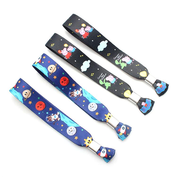 Best Price for Print Pet Leash - Custom fashion colorful printed elastic fabric wristband – February Webbing