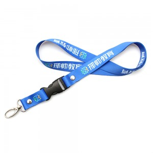2019 new fashion high quality detachable plastic buckle sublimation OEM lanyard